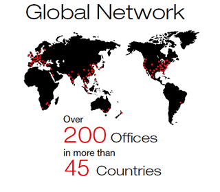 Global Network / Over 200 Offices in more than 44 Countries