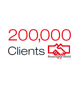 200,000 Clients Around the World